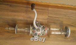 Antique Cast Iron Arcade Crystal No. 3 Cast Iron Coffee Grinder Mill, Repainted