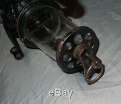 Antique Cast Iron Arcade Crystal Wall Mount Coffee Grinder No. 1