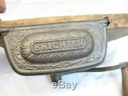Antique Cast Iron Brighton Coffee Mill Wall Grinder Kitchen Tool Primitive