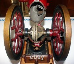 Antique Cast Iron Charles Parker No. 200 2 Wheel Coffee Grinder