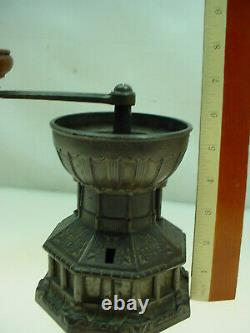 Antique Cast Iron Coffee Grinder Archibald Kenrick & Sons MILL House Shaped