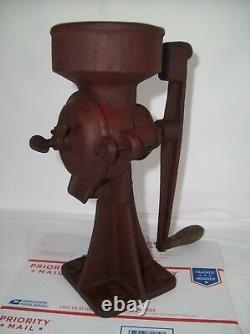Antique Cast Iron Coffee Grinder Primitive Hand Crank Swift Mill Unit