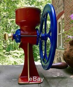 Antique Cast Iron Corn Coffee Grinder C. S. Bell Co. Hillsboro USA Model 1 1/2