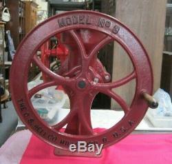 Antique Cast Iron Corn Coffee Grinder C. S. Bell Co. Hillsboro USA Model #3