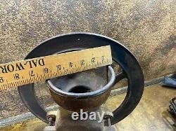 Antique Cast Iron General Store COFFEE MILL GRINDER w 16 wheel / primitive