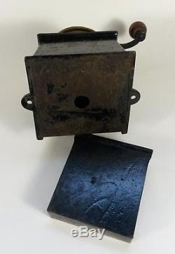 Antique Cast Iron Kenrick & Sons No. 2 Victorian Coffee MILL Grinder