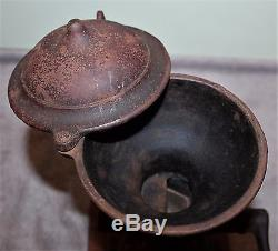 Antique Cast Iron National Specialty Mfg Co. Coffee Grinder Orig Paint/decals