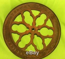 Antique Cast Iron Wheel Coffee Grinder Large