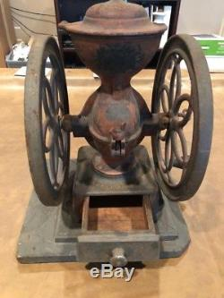 Antique Coffee Grinder Enterprise Philadelphia Cast Iron
