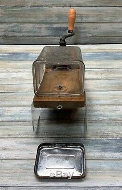 Antique Coffee Grinder JEWEL Glass ARCADE MFG CO 1890-1900 Super Rare Vtg