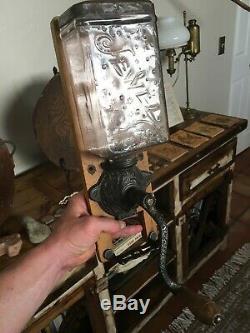 Antique Coffee Grinder JEWEL Glass ARCADE MFG CO (1890, Super Rare)