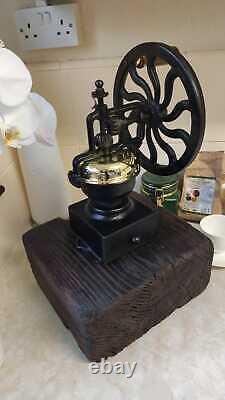 Antique Coffee Grinder Mill. Robert Welch design cast iron Victor, 48cm high