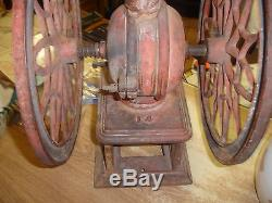 Antique Coffee Grinder SWIFT MILL #14 Cast Iron Lane Brothers Poughkeepsie NY