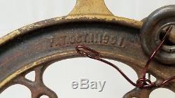 Antique Coffee Grinder Wheel LANDER'S FRARY & CLARK New Britain, CT 8 1/2 dia