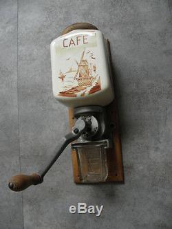 Antique Coffee Grinder mill kitchen Kaffeemühle malino retro country vintage old