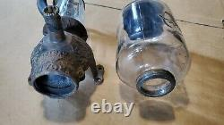 Antique Coffee Mill Grinder Arcade Crystal No 3 Complete with Catch Cup