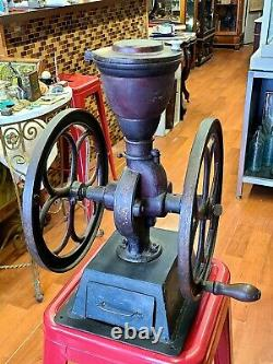Antique Cole's Mfg, Co, Country Store Coffee Grinder Dec, 27,1887 USA