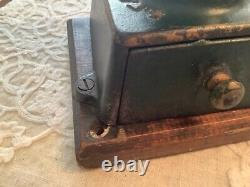 Antique Crown Coffee Mill Landers Frary Clark #11 Cast Iron Coffee Grinder