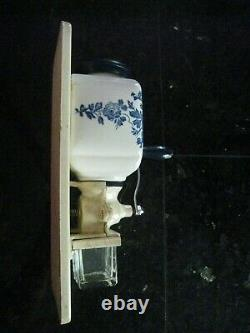 Antique De Ve Holland Porcelain Coffee Grinder MILL Wall Mount