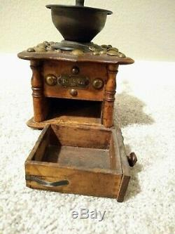 Antique Dovetail Peugeot Marquis Depossee Coffee Grinder handmade made in France