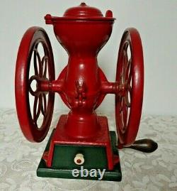 Antique ENTERPRISE Coffee Grinder Mill 1873 Philadelphia PA Original Paint NICE