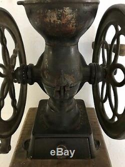 Antique ENTERPRISE & L. F. & C. COFFEE GRINDER MILL Orig Paint PARTS REPAIR