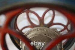 Antique ENTERPRISE MFG CO Philadelphia No. 2 Double Wheel Coffee Grinder 1898