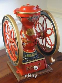 Antique ENTERPRISE No. 2 Cast Iron Coffee Grinder