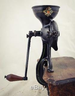 Antique ENTERPRISE Philadelphia #0 Coffee Grinder Clamp on Mill Kaffeemuehle