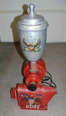 Antique Early 1900's IBM Country Store Counter Top Electric Coffee Grinder