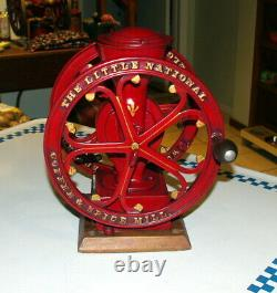 Antique Elgin The Little National 2 Wheel Coffee / Spice Grinder MILL