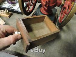 Antique Enterprise 10 1/2 Cast Iron Coffee Grinder, 1898, Dual Wheel (VBEX)