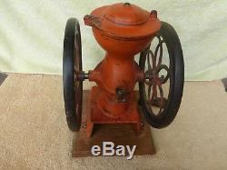 Antique Enterprise #2 Coffee Grinder Mill with 8 3/4 Wheels All Original
