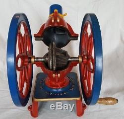 Antique Enterprise # 6 Coffee Grinder MILL Double Crank Balance Wheel