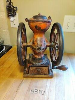 Antique Enterprise Cast Iron 12 Coffee Grinder Mill No. 2 Pat 1873 Award Winner
