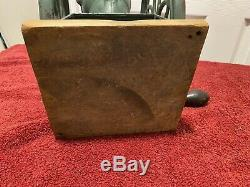 Antique Enterprise Cast Iron Coffee Grinder Pat 1873 Vintage mill