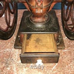 Antique Enterprise Coffee Grinder In Original Paint Pat, 1873