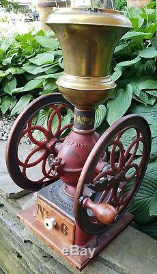 Antique Enterprise Coffee Grinder MILL Double Wheel #6 Cast Iron General Store