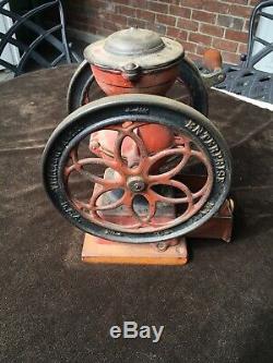 Antique Enterprise MFG Co. No. 2 Coffee Grinder PAT. D Dec. 9 1873 Original Paint