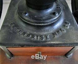 Antique Enterprise Mfg. Co. Coffee Grinder No. 2 Original Decals Complete