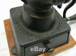 Antique Enterprise No. 1 Cast Iron Coffee Grinder Mill 1873 Pat Phila PA no lid