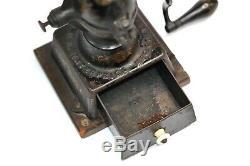 Antique Enterprise No. 1 Cast Iron Coffee Grinder Mill Vintage
