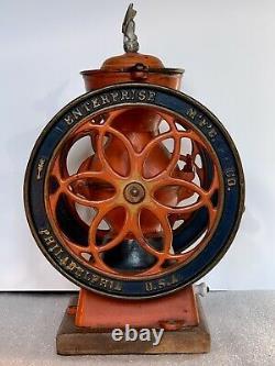 Antique Enterprise No. 2 Coffee Grinder Mill Excellent Condition ORIGINAL PAINT