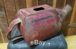 Antique Enterprise Red Metal Coffee Hopper for Grinder Made in USA