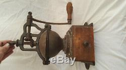 Antique French Peugeot Cast iron Coffee Grinder / Mill Model A1 circa 1890