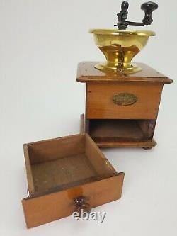 Antique French Peugeot Freres Wooden Coffee Grinder