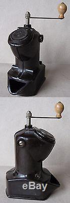 Antique German Bakelite Coffee Grinder MILL / Marked Dmr Veb Rostoc / Functional