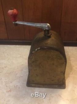 Antique German O. G. J. Gesch Metal Moccamuhle Coffee Mill Grinder Vintage Spice