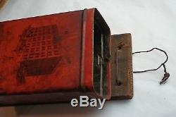 Antique Grand Union Tea Co. Coffee Grinder, Lithographed Tin, Wall Mount Pat. 01