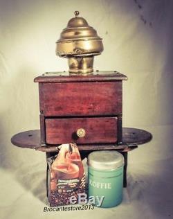 Antique HUGH Coffee Grinder Belgium Mill Moulin Molinillo Cafe Koffiemolen c1860